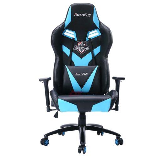 Компьютерное кресло AutoFull AF/045QJ/NB - Черное с синими вставками