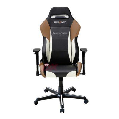 Компьютерное кресло DXRacer OH/DM61/NWC - черное с белыми и коричневыми вставками