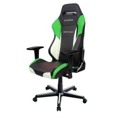 Компьютерное кресло DXRacer OH/DM61/NWE - Черное с Белыми и Зелеными вставками
