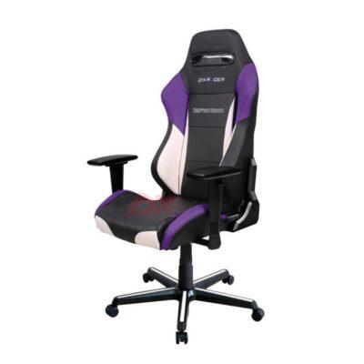 Компьютерное кресло DXRacer OH/DM61/NWV - Черное с белыми и фиолетовыми вставками