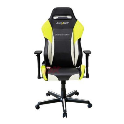 Компьютерное кресло DXRacer OH/DM61/NWY - Черное с Белыми и Желтыми вставками