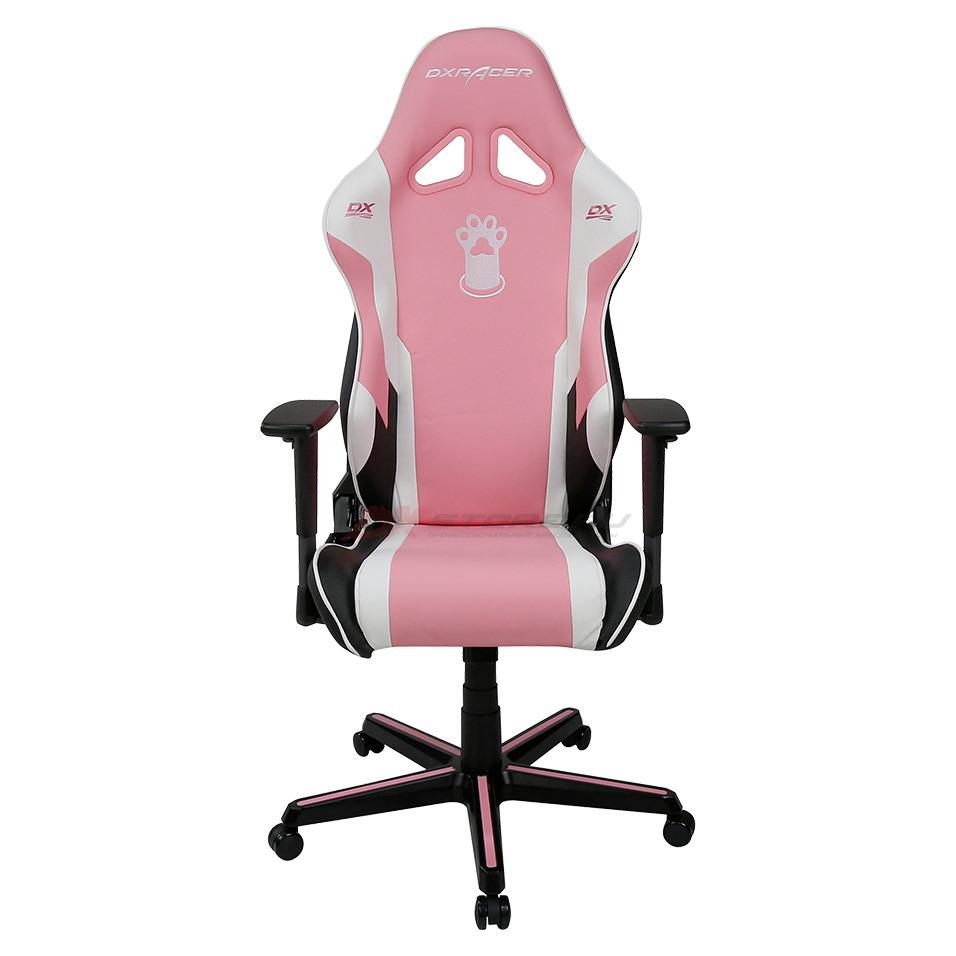 Компьютерное кресло DXRacer OH/RZ95/PWN Pink Paw Print - Фото 4