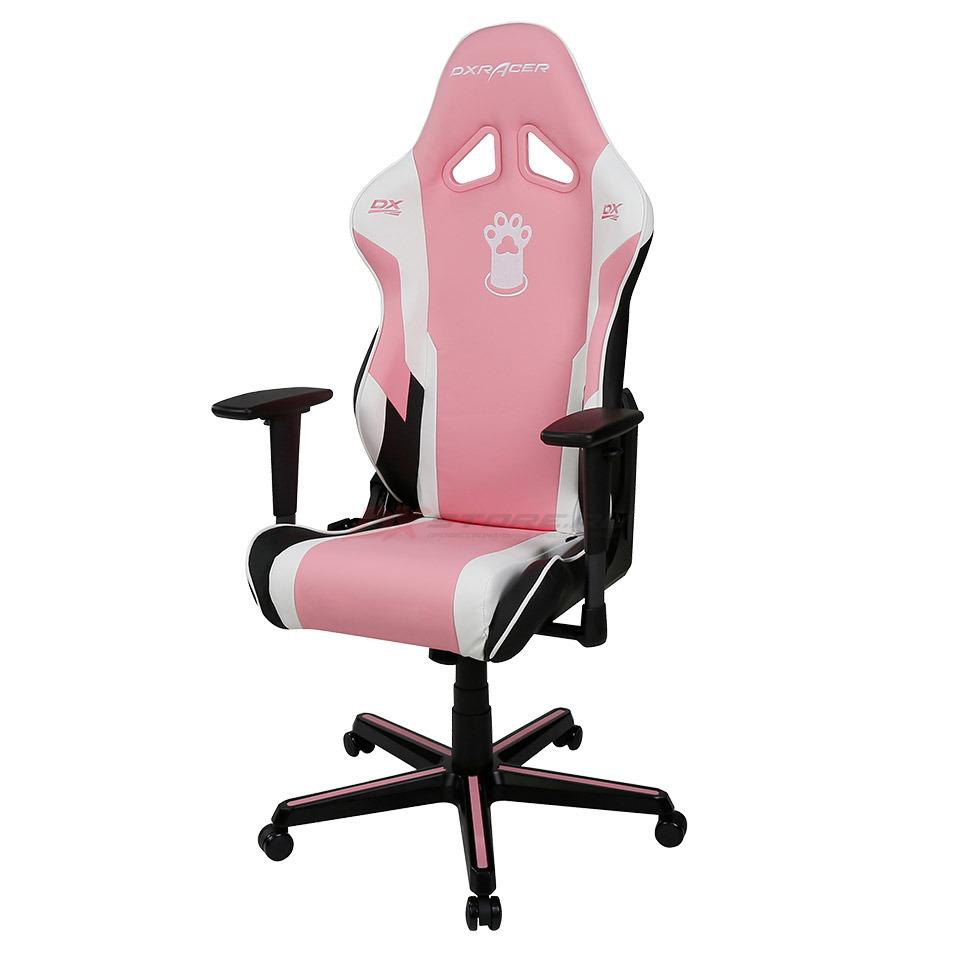 Компьютерное кресло DXRacer OH/RZ95/PWN Pink Paw Print - Фото 5