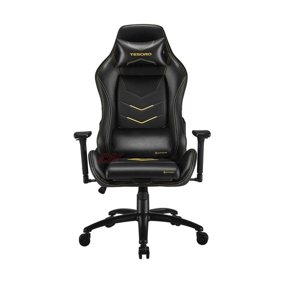 Игровое компьютерное кресло Tesoro Alphaeon S3 F720 Жёлтый - Фото 1