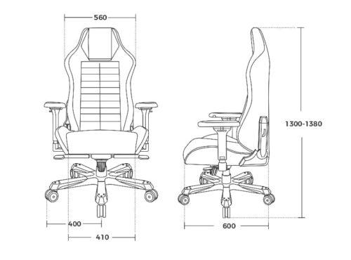Компьютерное кресло DXRacer Master DMC/IA233S - Габариты кресла