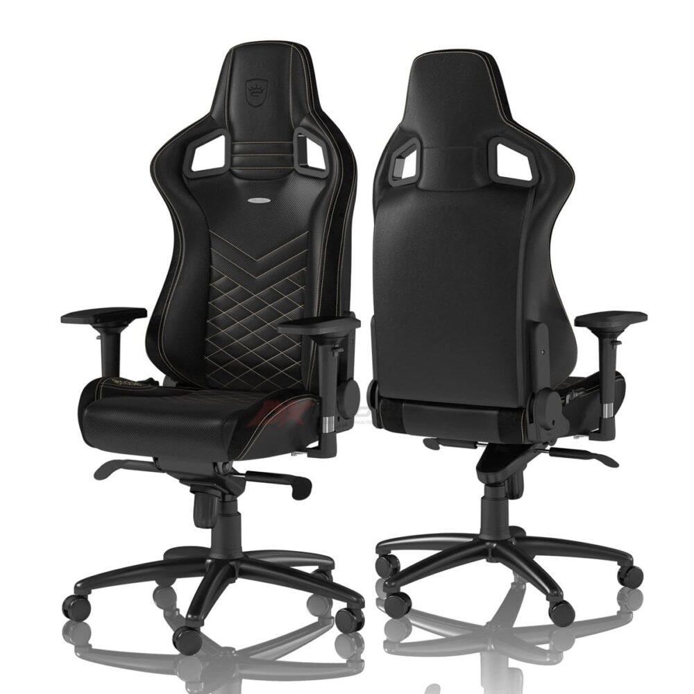 Игровое кресло noblechairs EPIC Black/Gold - Фото 1