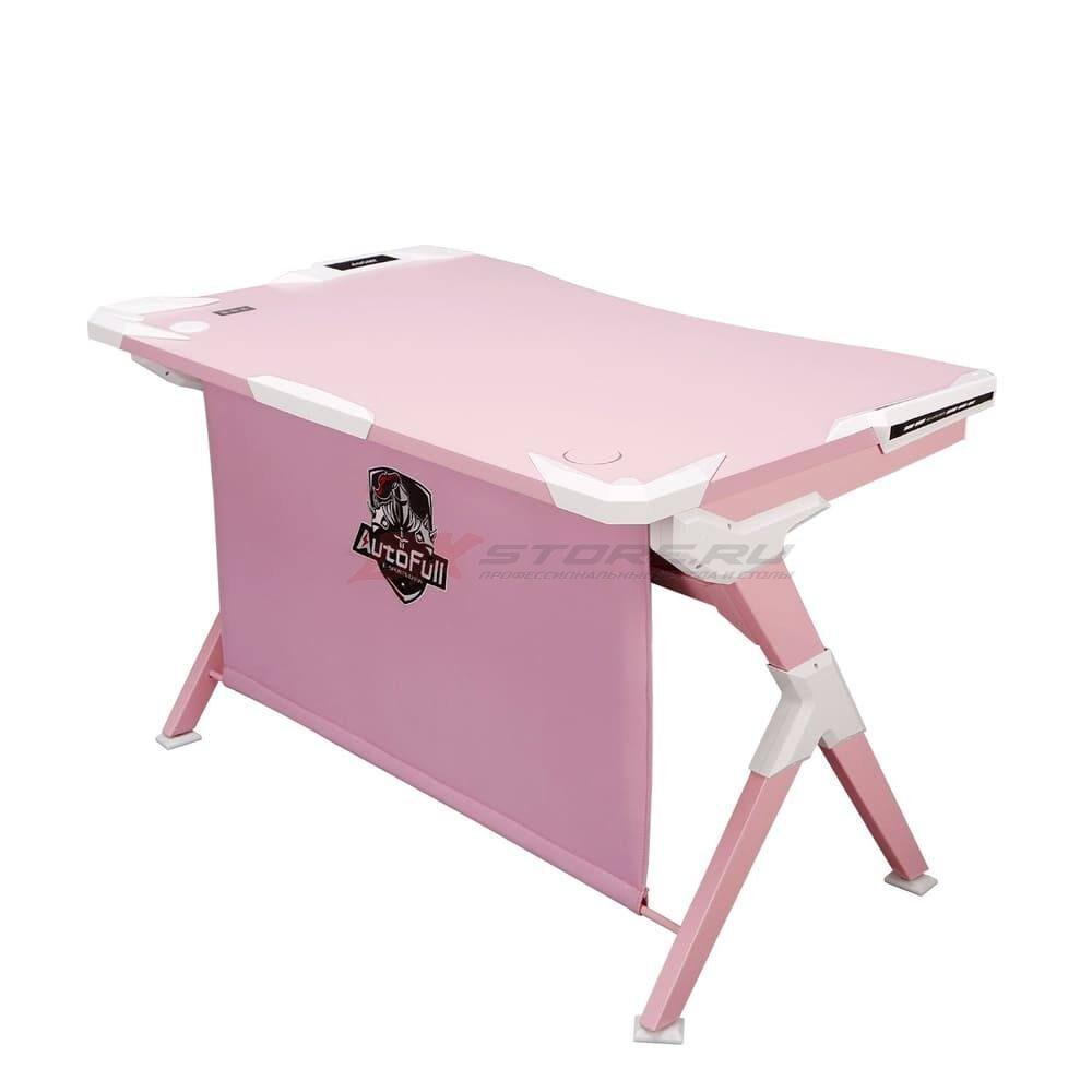 Игровой компьютерный стол AutoFull Розовый - Фото 1