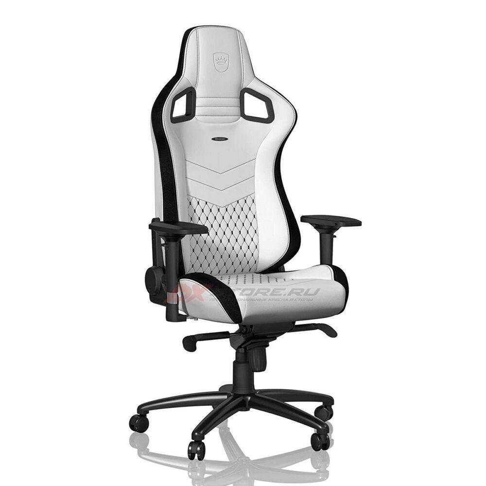 Игровое кресло noblechairs EPIC White/Black - Фото 3